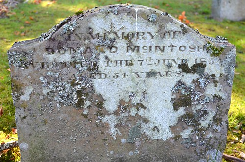 A stone in memory of Donald McIntosh