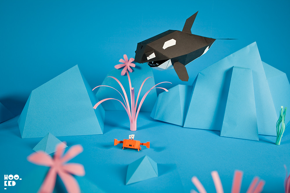 Ronzo's Derrick the Deathfin, Paper-craft Shark Mobile Game. Photo ©Mark Rigney / Hookedblog