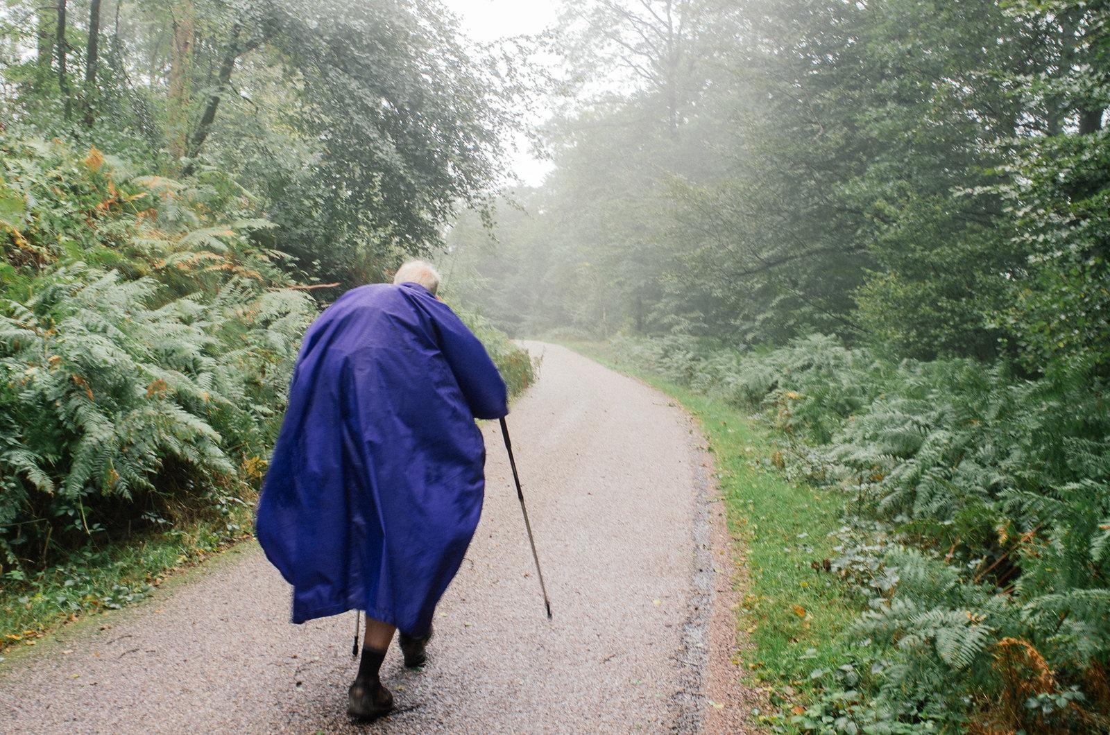 Grande traversée du Morvan - Un randonneur pugnace