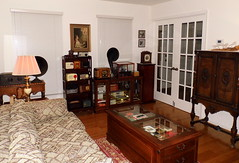 Radio Room (Front View) -- Mostly Vacuum Tube Table Radios From The 1920s Through The 1950s