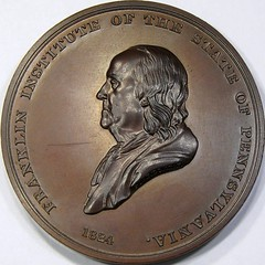 Franklin Institute Medal obverse