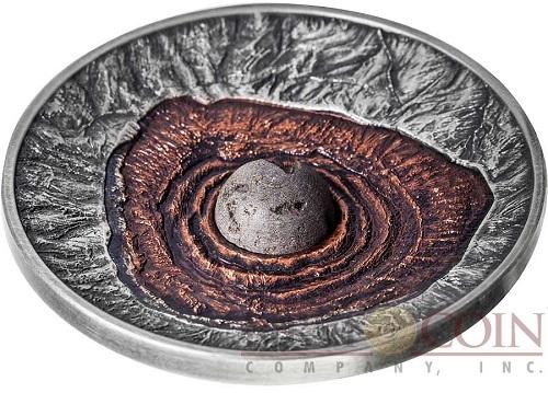 Vesuvius volcano coin profile
