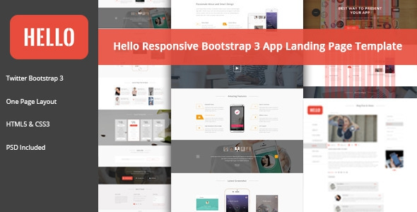 Themeforest HELLO – Responsive Bootstrap App Landing Page