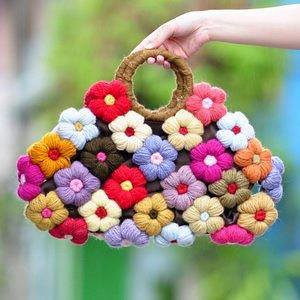 (i) puff flower bag