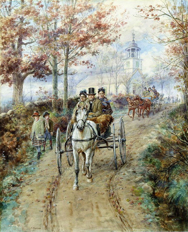 Carriage Ride by Edward Lamson Henry - 1886