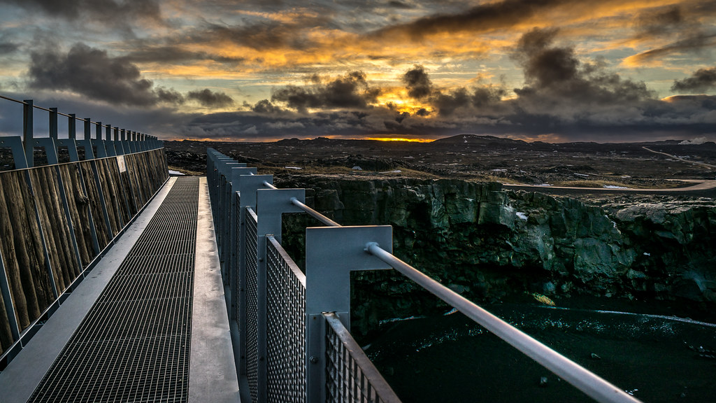 Bridge between continents, Iceland picture