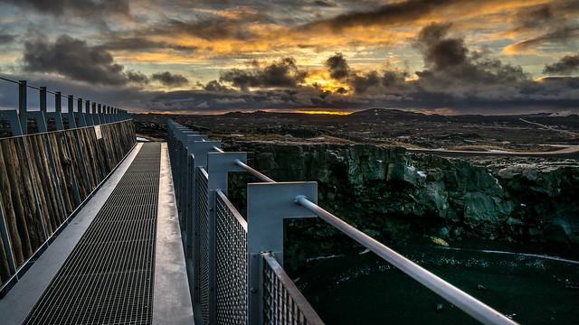 Bridge between continents - Iceland - Travel photography