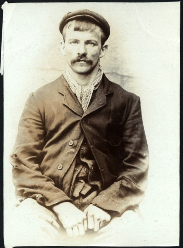 Thomas Strong, miner, arrested for stealing rhubarb