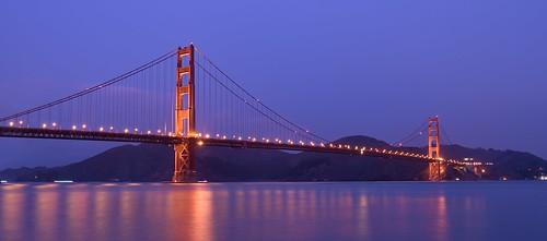 ocean sf california longexposure bridge blue light sea sky night lights golden gate san francisco tripod thebluehour ggb