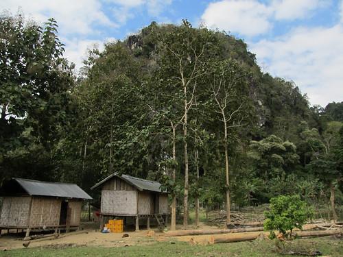 Le village de Ban Na: le restaurant/guesthouse où nous avons mangé