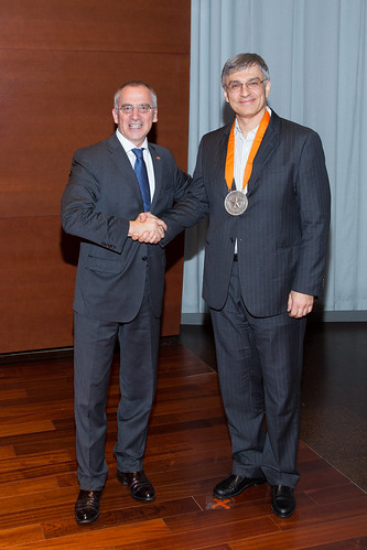 Elmer V. Bernstam, MD, MSE; The Reynolds and Reynolds Professorship in Clinical Informatics with UTHealth President Giuseppe N. Colasurdo, MD