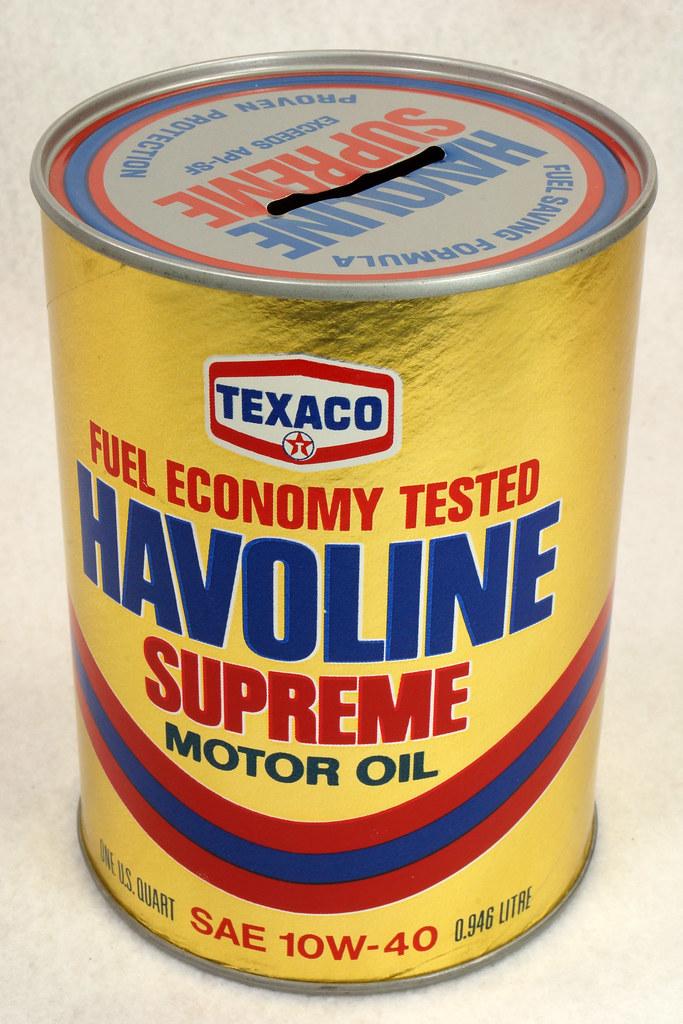 RD14906 Texaco Havoline Supreme Motor Oil Can Coin Bank DSC06462