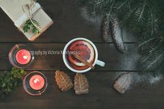 Hot tea and Christmas gift