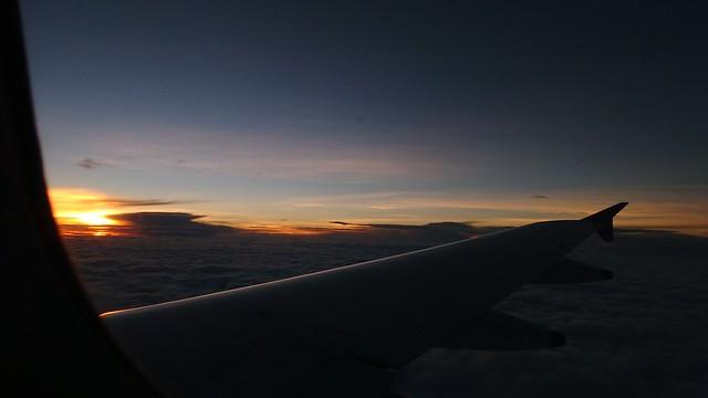 a surise in an aircraft