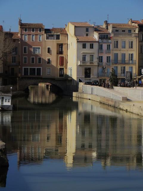 Canal de la Robine, Narbonne, Aude, Languedoc, Occitanie, France.