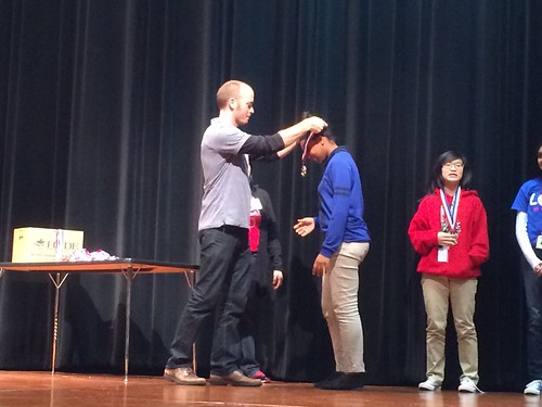 Jordan awards high school student medals at 2015 Alief ISD Science Fair | by jmil