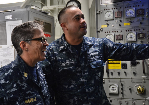 PEARL HARBOR, Hawaii - U.S. Pacific Fleet Master Chief Susan Whitman paid a visit to the Sailors aboard USS Hopper (DDG 70) and USS Michael Murphy (DDG 112).