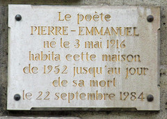 Photo of Pierre Emmanuel marble plaque