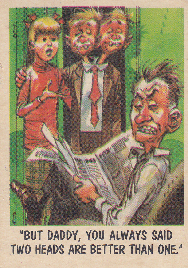 """You'll Die Laughing"" Topps trading cards 1959,  illustrated by Jack Davis (29)"
