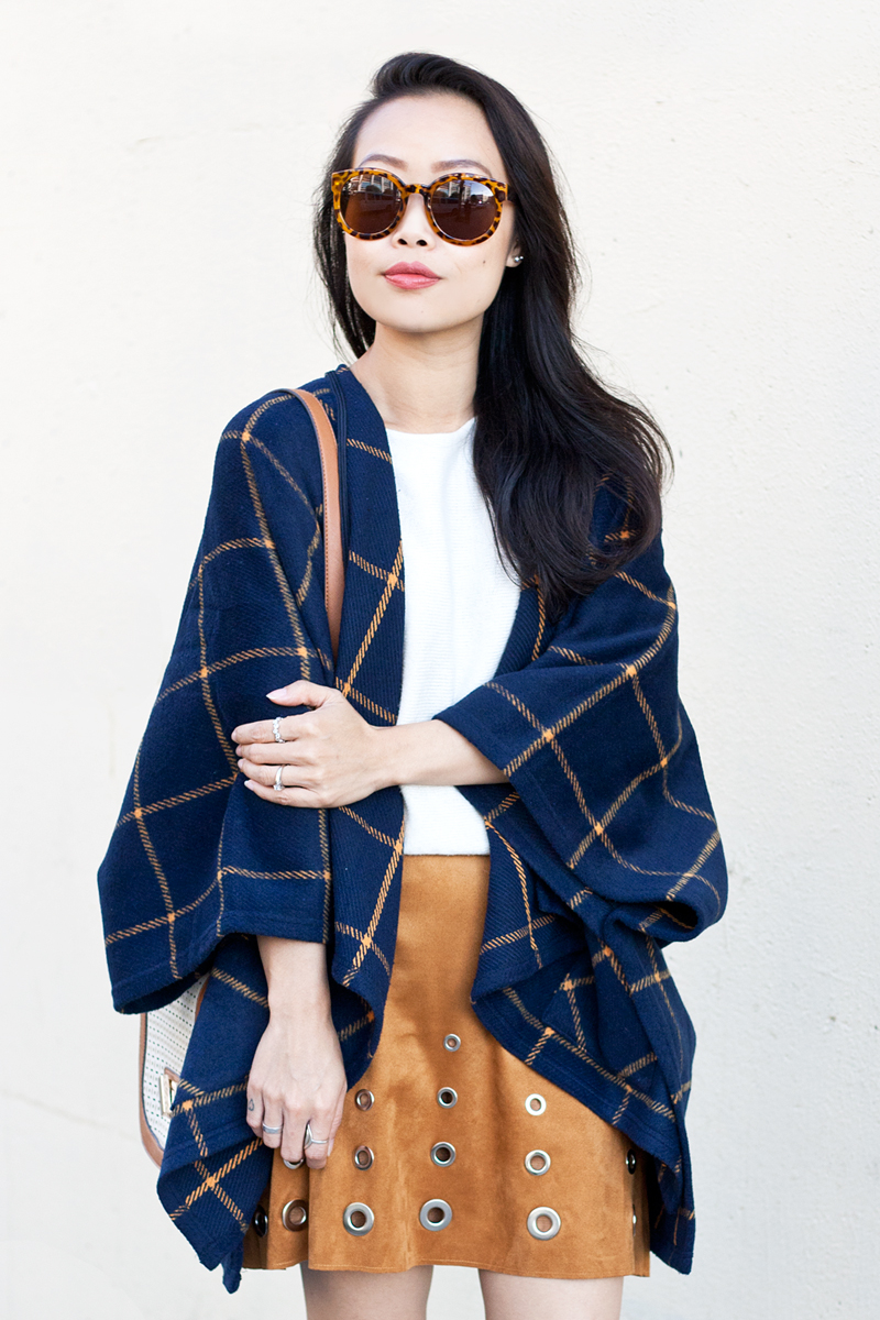 04-plaid-poncho-suede-grommet-skirt