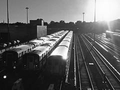 Mets - Willets Point Train Depot Near Sunset - Black & White Version; Queens, New York