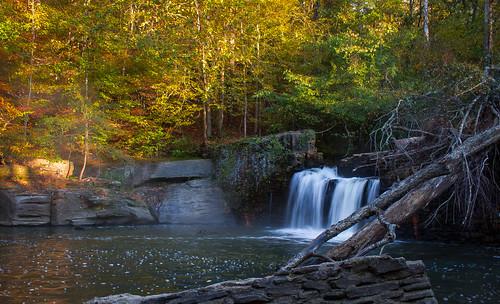 morning autumn fall nature water leaves canon river waterfall rocks fallcolor stones falls damn hdr sl1 bolders