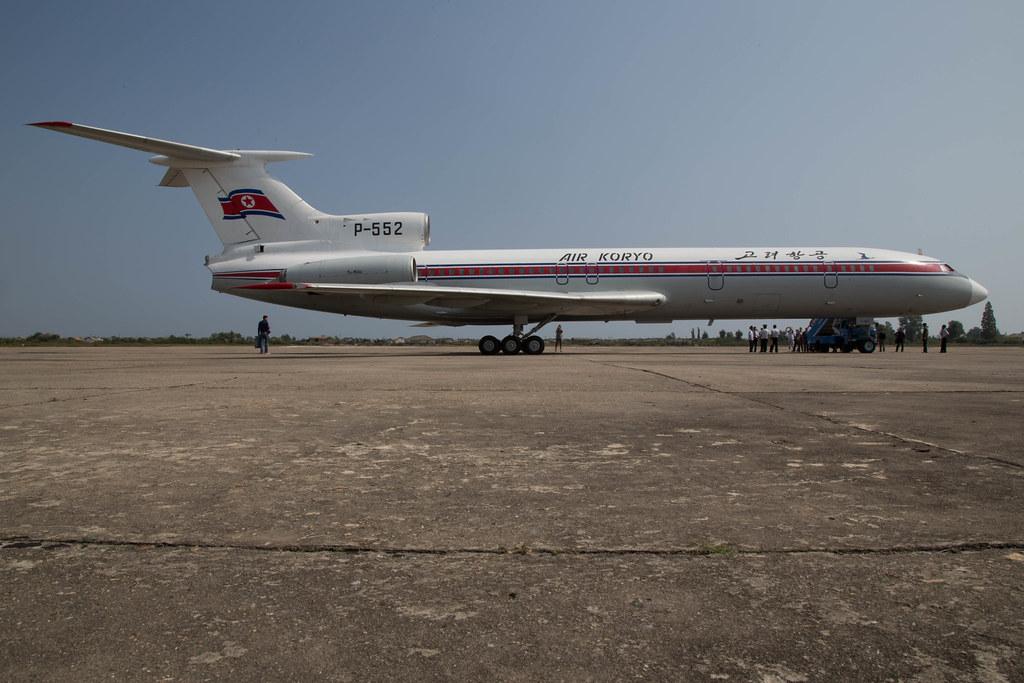 Air Koryo's Tupolev Tu-154B (reg. P-552) in Sondok Airport #avgeek
