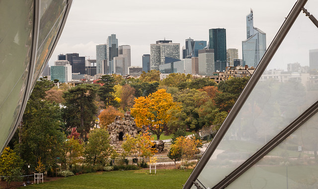 La Defense from Foundation Louis Vuitton. Paris. France.