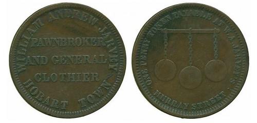 Australia, William A. Jarvey Pawnbroker Token