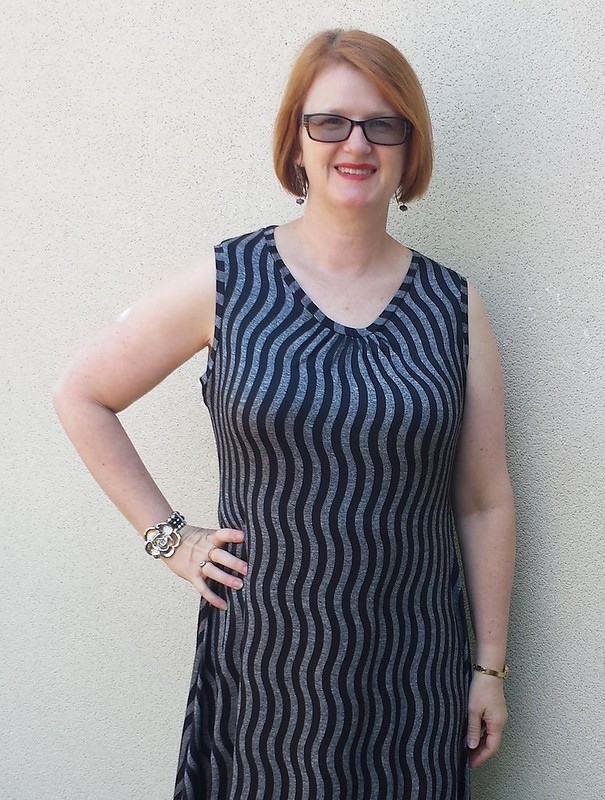 Crafty Mamas Cherish dress in knit from Darn Cheap Fabrics