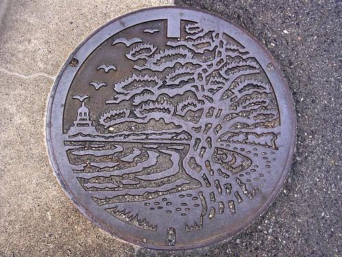 Tsuruga Fukui, manhole cover 3 (福井県敦賀市のマンホール3)