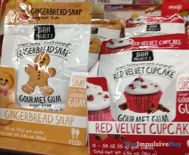 Project 7 Gingerbread Snap and Red Velvet Cupcake Gourmet Gum