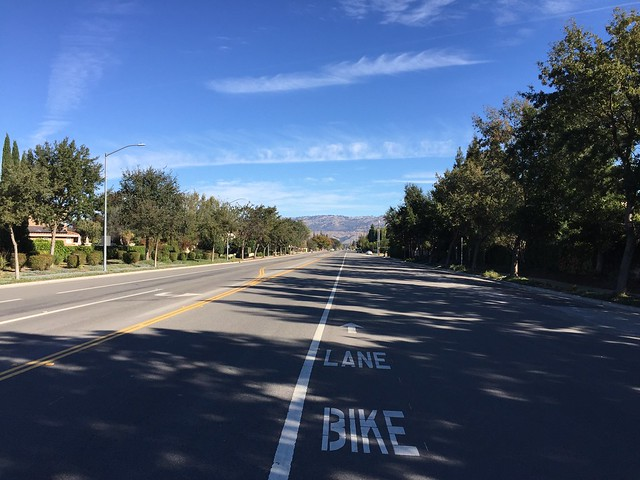 Generous bike lane