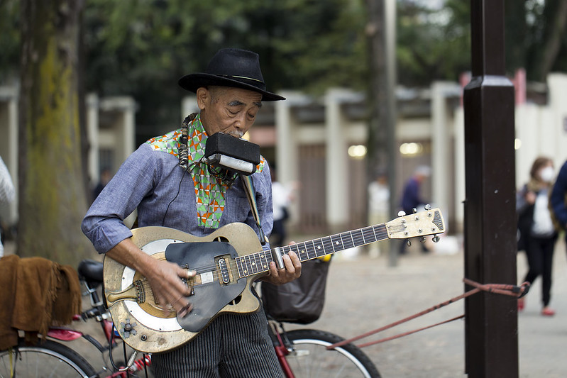 Japanese blues man