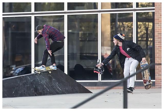 Skateboarders Downtown 2