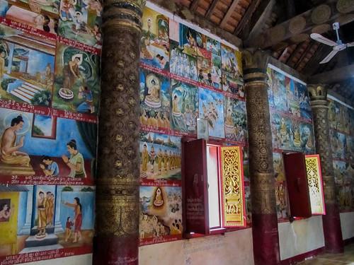 Luang Prabang: le temple Vat Aham, à côté du Vat Visoun