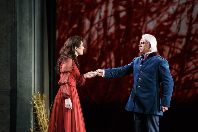 Nicole Car as Tatyana and Dmitri Hvorostovsky as Eugene Onegin in Kasper Holten's Eugene Onegin © Photograph by Bill Cooper, ROH 2015
