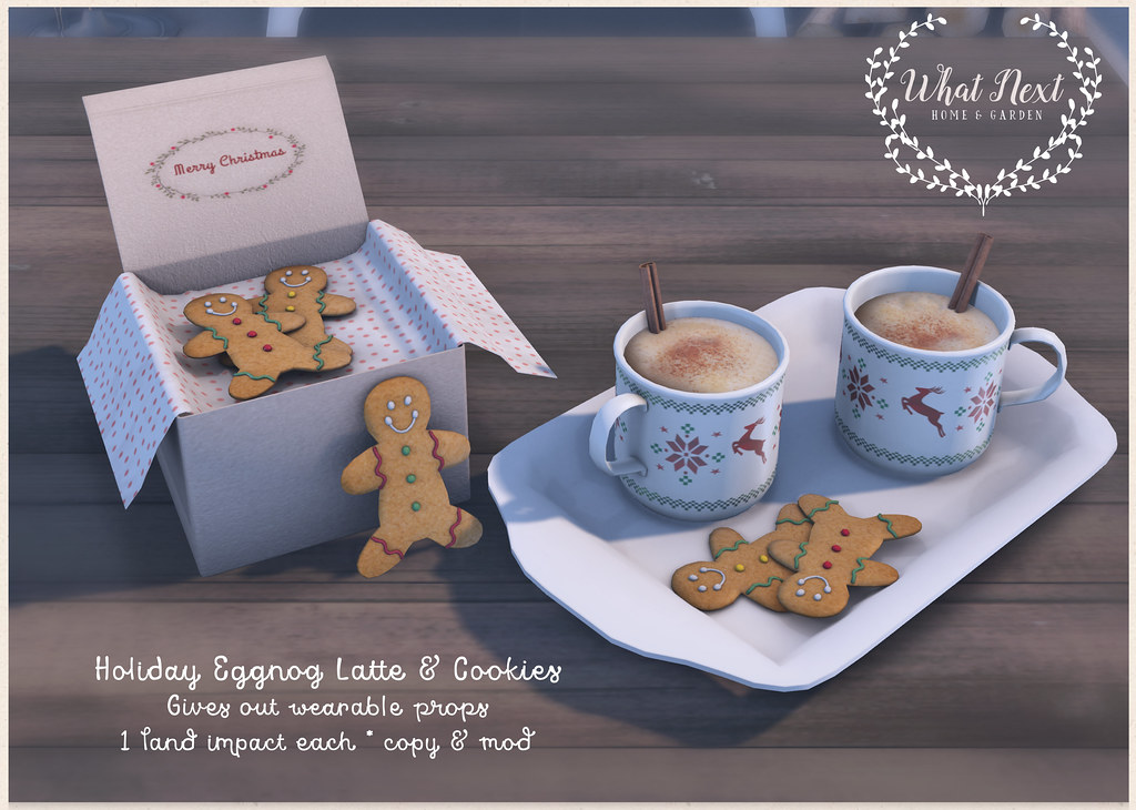 {what next} Holiday Eggnog Latte & Cookies for Fifty Linden Friday