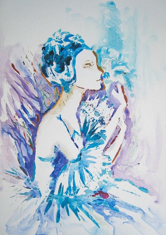 Балерина с лилией