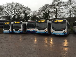 Rosso 210, 209, 208 and 219 being collected at Minsterley Motors, Stiperstones