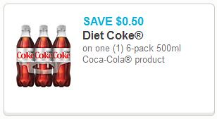 graphic relating to Coca Cola Printable Coupons called 0.50/1 Coca-Cola 6pk Bottles Solution Printable coupon
