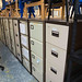 Various metal filing cabinets