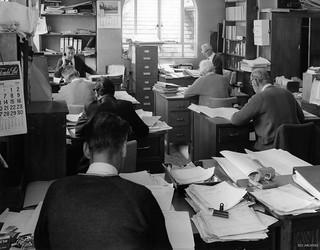 Clerks Dept offices, 1971