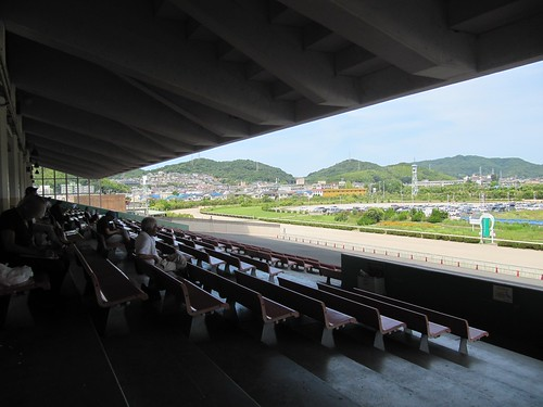 姫路競馬場2階からの眺め