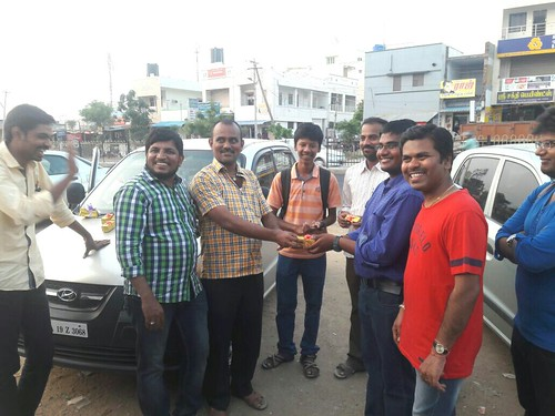 Prasanna Receiving Gift