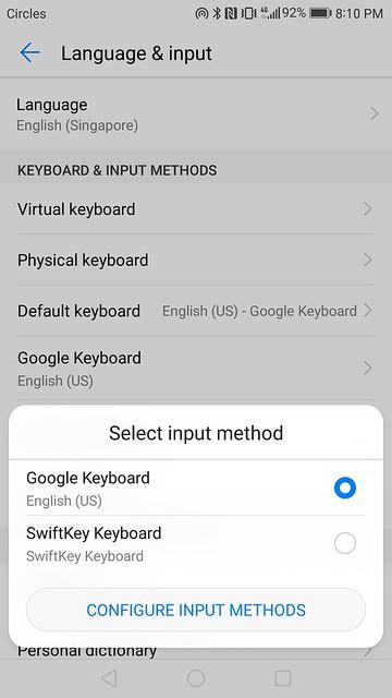 Huawei Mate 9 - EMUI 5.0 - Keyboards