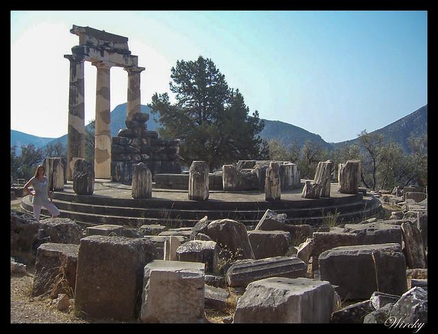 Grecia Delfos Osios Lukas Kalambaka - Santuario de Atenea Pronaia