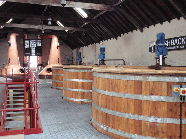 Washbacks at Glengyle distillery