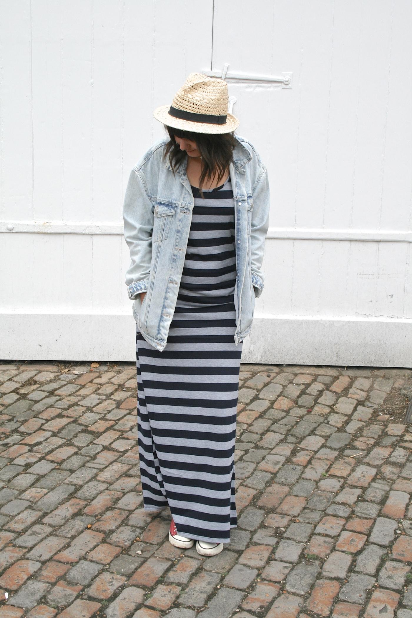 stripy maxi dress