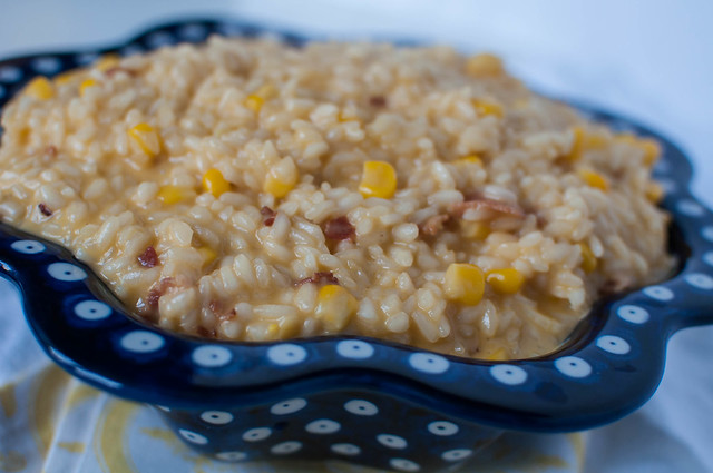 Sweet Corn, Bacon and Cheddar Risotto 5